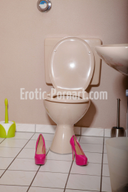 Toilette beim Homeshooting
